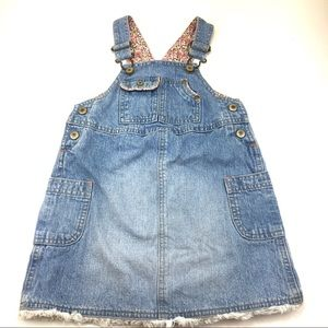Old Navy Overall Skirt Denim Dress Sz 4T